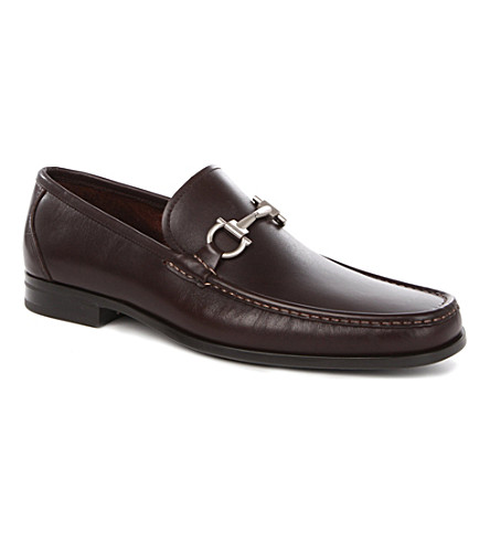 SALVATORE FERRAGAMO Magnifico leather loafers (Brown