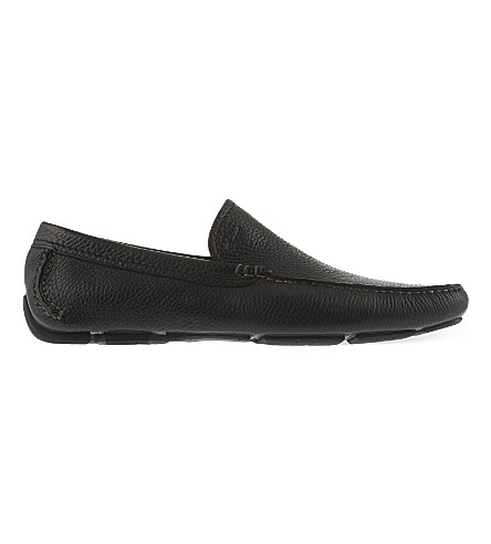 FERRAGAMO Pacifico leather moccasins (Black