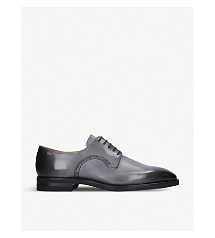 BALLY Scrivani leather derby shoes (Grey