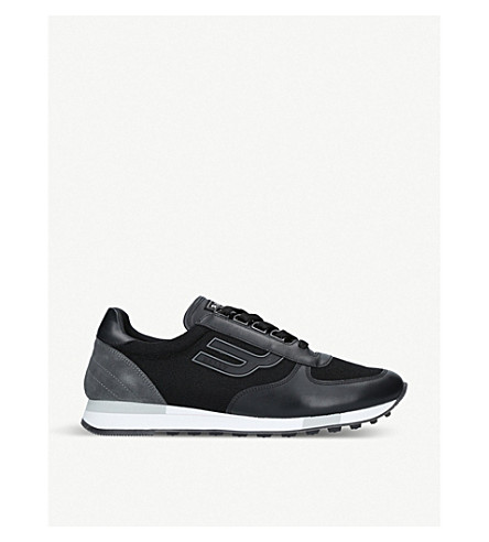 BALLY Galaxy suede and leather trainers (Black/comb