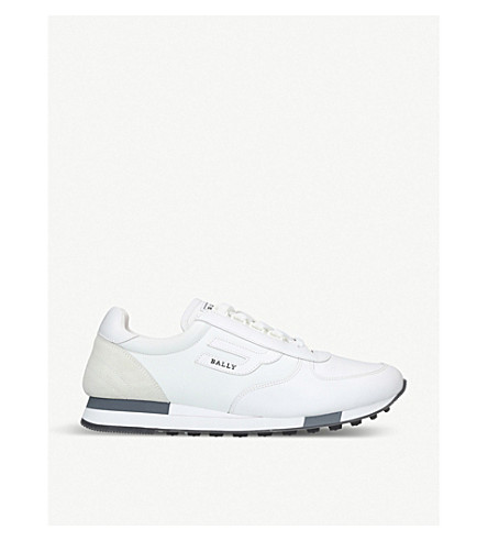 BALLY Galaxy suede and leather trainers (White