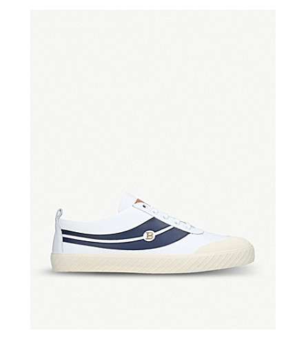 BALLY Super Smash leather trainers (White/navy