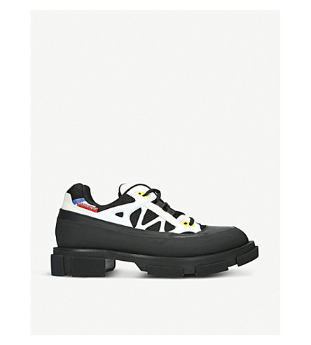 BOTH Gao Runner rubber and leather trainers (Blk/white