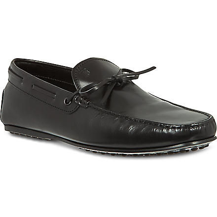 TODS City tie driving shoe (Black