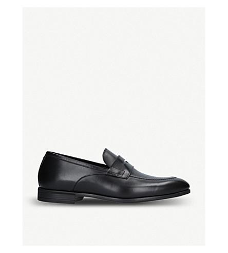 HARRYS LONDON克莱夫皮革乐福鞋 (黑色