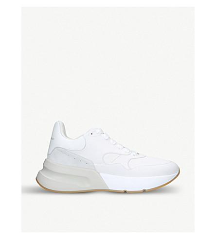 ALEXANDER MCQUEEN Runner leather trainers (White/comb