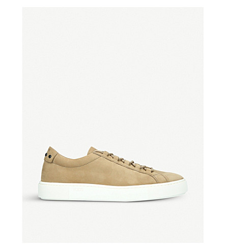 TODS Clean Cassetta leather trainers (Beige