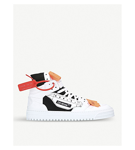 OFF-WHITE Off-court leather high top sneakers