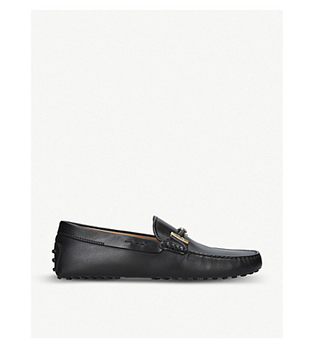 Double shoes Double TODS shoes driving leather Black T Black driving TODS T TODS driving leather Double T leather AnaaxqzwSH