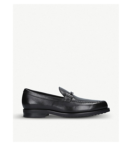 TODS Double T leather loafers (Black