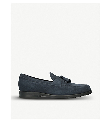 TODS Tassel suede loafers (Navy