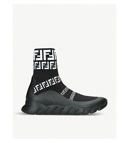 c0332743024a FENDI - Logo-detail knitted trainers