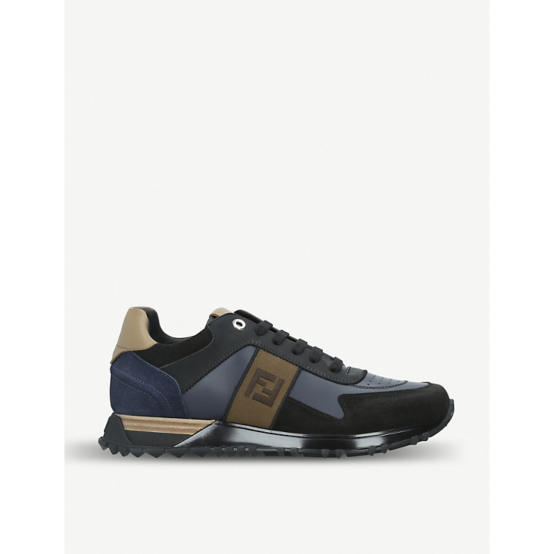 FENDI FF leather sneakers