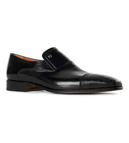 STEMAR Ostrich toecap loafers (Black