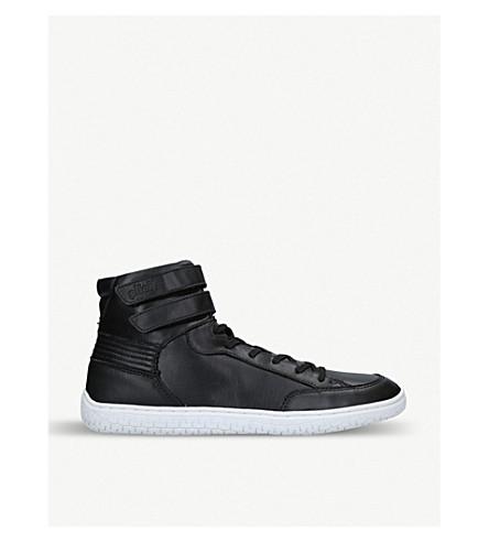 264fb3590420 PILOTI Superstrada leather high-top trainers (Black