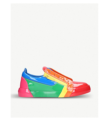 GIUSEPPE ZANOTTI RNBW leather trainers (Mult/other