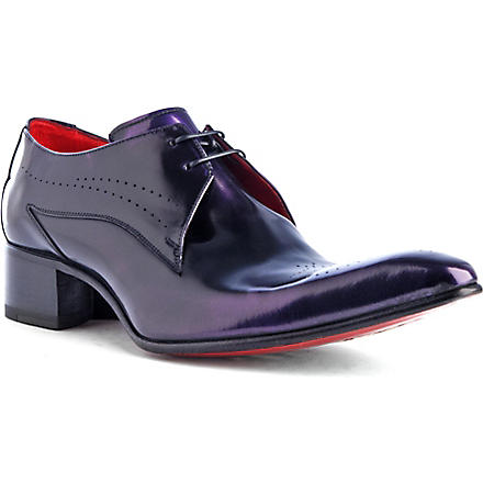 JEFFERY WEST Rat Stack Derby shoes (Wine