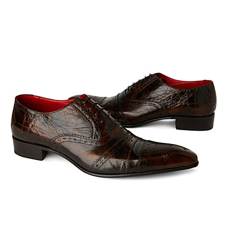JEFFERY WEST Zante Oxford shoes (Tan