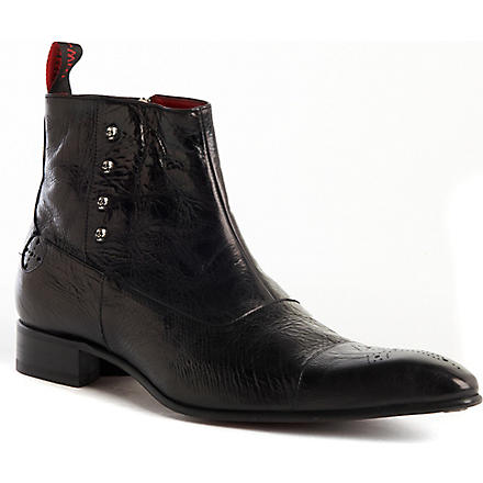 JEFFERY WEST Zlatan pointed boots (Black