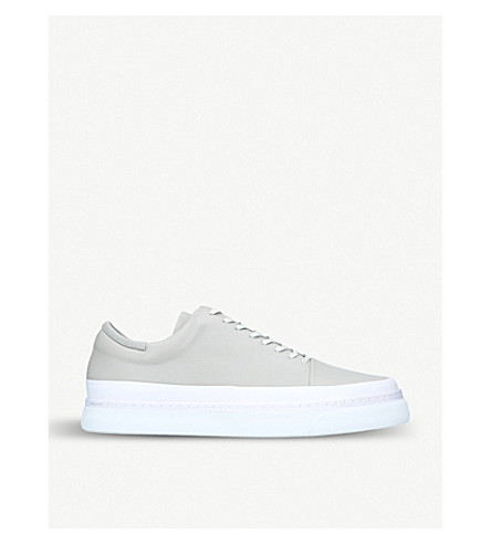 AUXILIARY Infra leather trainers (Grey+mixed
