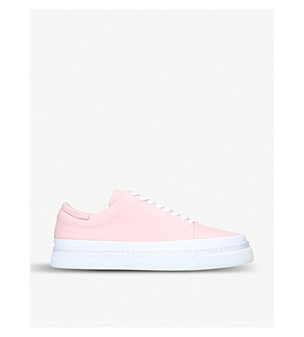 AUXILIARY Infra leather trainers (Pink comb