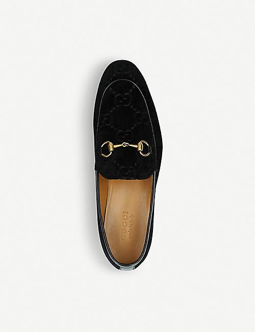GUCCI Jordaan jacquard velvet loafers