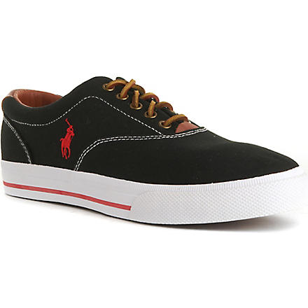 RALPH LAUREN Vaughn canvas trainers (Black