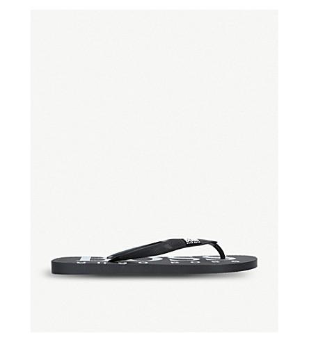 a00566aa857c1 BOSS Wave logo rubber flip flops (Black