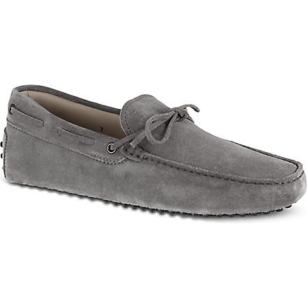 TODS 122 tie driving shoes (Grey/light