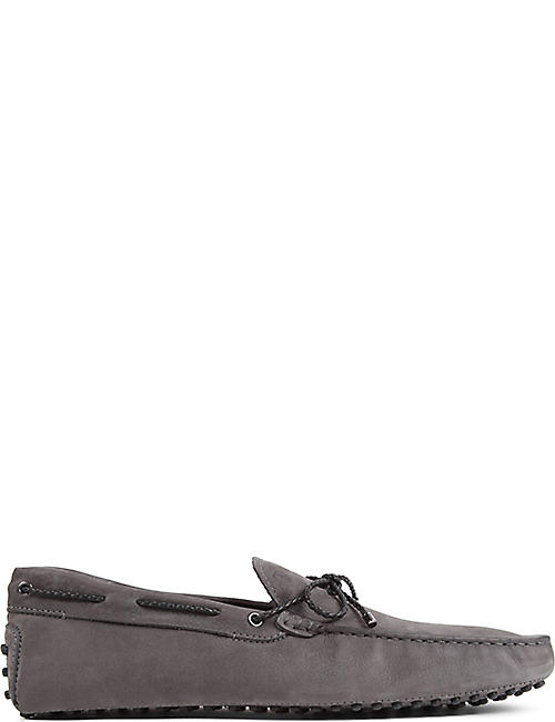 Tod's Loafers for Men On Sale, Black, suede, 2017, 10 10.5 11 7 7.5 8 8.5 9 9.5