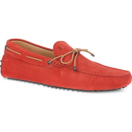TODS Scooby doo tie driving shoes (Red
