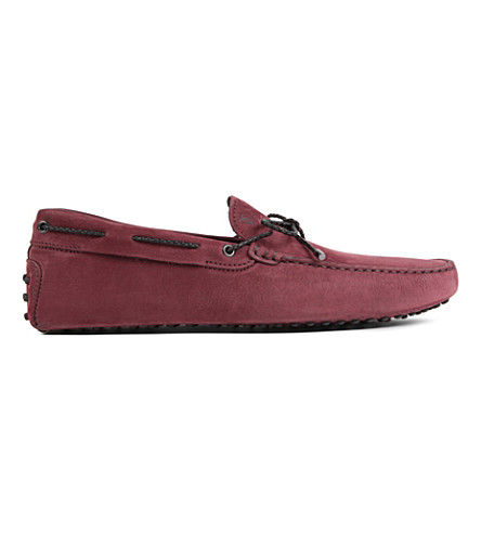 TODS Scoubidou driver shoes (Wine