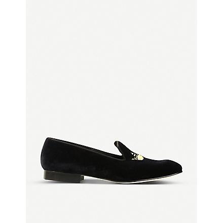 CHURCH Velvet crown loafers (Black