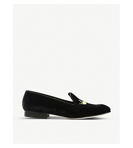 CHURCH Velvet crown loafers (Black