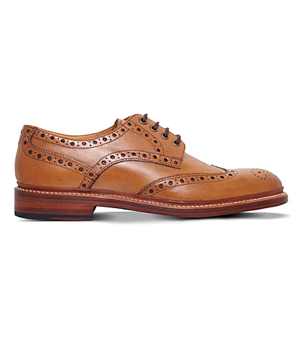 OLIVER SWEENEY Saunders leather Derby shoes (Tan