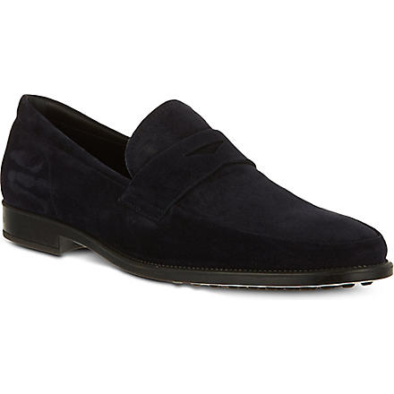 TODS Blind seam loafers (Navy