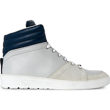 DIOR HOMME Padded collar high tops (White