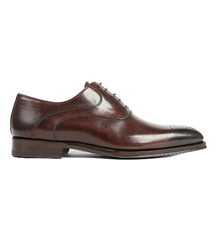 MAGNANNI Perforated Oxford brogues (Dark+brown