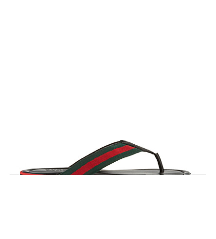 GUCCI SL73 thong sandals (Black