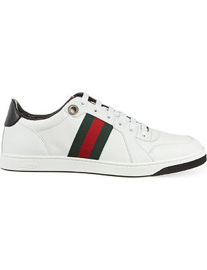 GUCCI Coda leather trainers