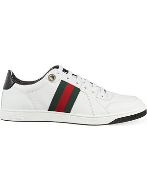 GUCCI Coda leather trainers