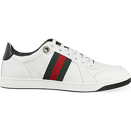 GUCCI Coda leather trainers (White