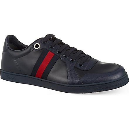 GUCCI Coda webbing low tops (Navy