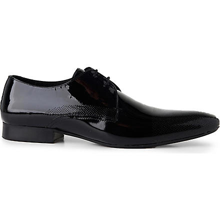 H BY HUDSON Dollar perforated Derby shoes (Black