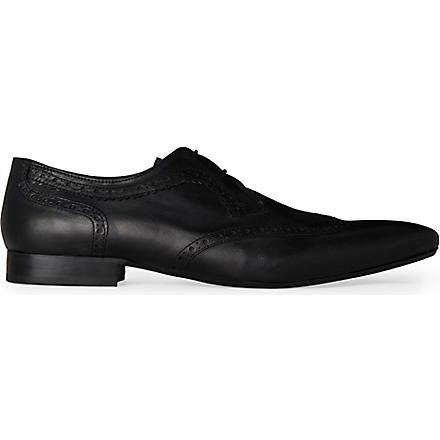 H BY HUDSON Franklin wingcap shoes (Black