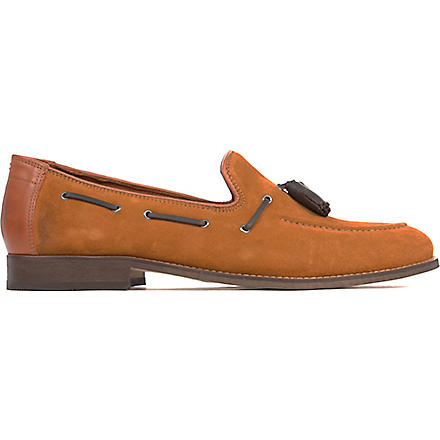 H BY HUDSON Tyska suede loafers (Tan