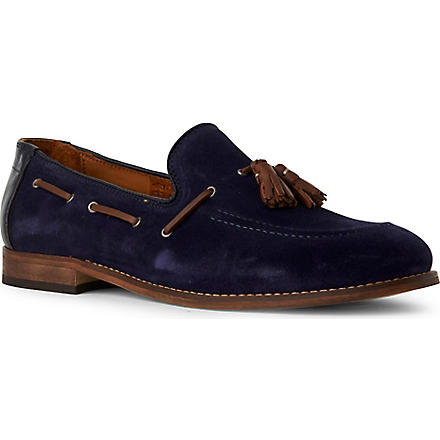 H BY HUDSON Tyska suede loafers (Blue