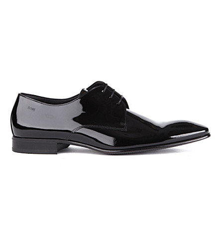 HUGO BOSS Cristallo chisel Derby shoes (Black