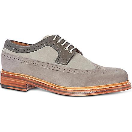 GRENSON Sid Derby wingcap shoes (Grey