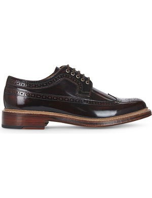 GRENSON Sid wingcap leather Derby shoes